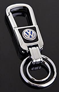 TSD Car Key chain Zinc alloy Handmade Leather Double Ring Keychain For Volkswagen