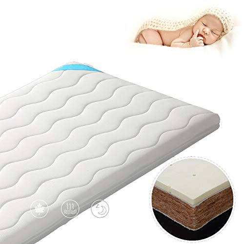 Best Price HBIAO Crib Mattress Pad, Natural Environmentally Friendly Coir mat Children's Mattress Sl...