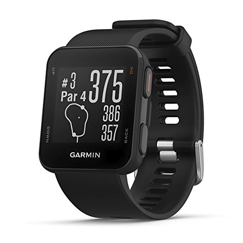 Garmin 010-02028-00 Approach S10–leggero GPS Golf Watch, Nero