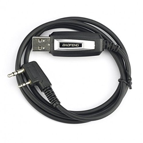 Mengshen programmierkabel USB Programming Cable Kabel Compatible for Baofeng Two Way Radio UV-5R/5RA/5R Plus/5RE UV3R Plus/BF-888S Walkie Talkies Supports Windows with Software CD BF-UV