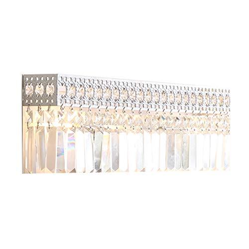 Luminaires & Eclairage/Luminaires intérieur/AP Applique en Cristal Salon rétro Chambre à Coucher Chevet Lampe Murale créative rectangulaire A+ (Color : Clear, Size : 49 * 9 * 16cm)