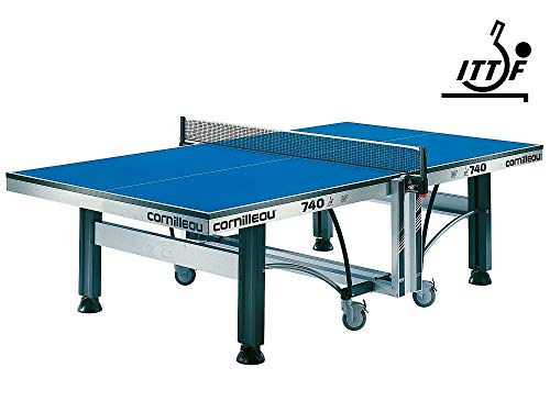 CORNILLEAU ITTF Competition 740 Rollaway Blue Indoor Table Tennis Table