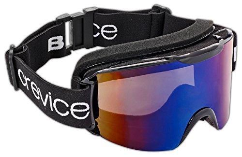 Black Crevice Skibrille im Frameless Design mit Doppelscheibe, BCR041001, schwarz/Smoke Blue