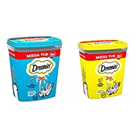 Product 1: All it takes is a shake - Just shake the tub and see your cat come running for the irresistible taste and texture of Dreamies Cat Treats, a reward to bring out the best side of your furry best friend Product 1: Enhance all the playful mome...