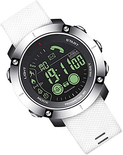LLDKA Orologi Bluetooth Intelligenti degli Uomini della vigilanza Impermeabile di Sport contapassi cronometro delle chiamate Intelligente Orologio News Alerts,Bianca