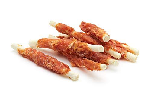 Frigera Snack Perro Palitos de Piel de Buey Enrollados con Pollo Deshidratado - 500 gr ✅