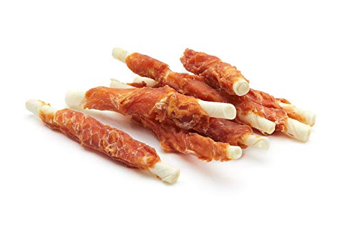 Frigera Snack Perro Palitos de Piel de Buey Enrollados con Pollo Deshidratado - 500 gr