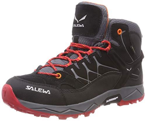 Salewa JR Alp Trainer Mid Gore-TEX Trekking-& Wanderstiefel, Black/Bergrot, 30 EU