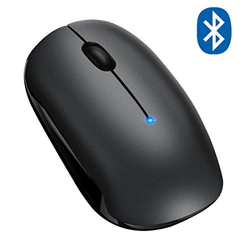 Topelek Draadloze optische muis, Bluetooth 4.0, draadloos, dual modus [bluetooth-modus en draadloze modus] 15 maanden accu voor laptop, pc, desktop-pc