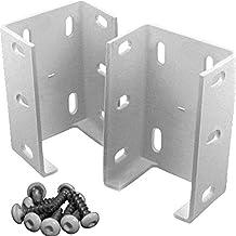 (2-Pack) Aluminum Fence Rail Bracket Heavy Duty Metal Outdoor Garden for Vinyl Fencing 73012344