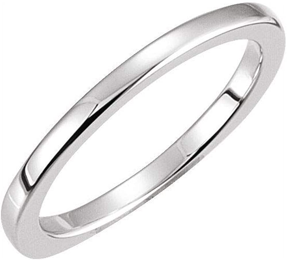 Solid Platinum Ring Band (Width = 1.7mm)