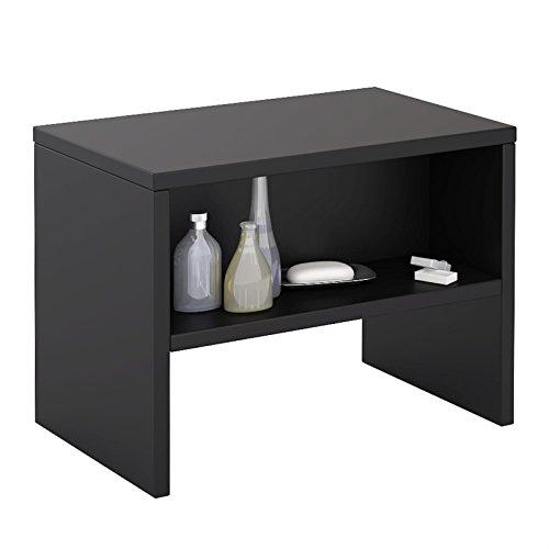 CARO-Möbel Nachttisch NEY Nachtschrank Beistelltisch mit offenem Fach in schwarz