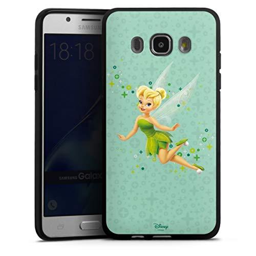 DeinDesign Silikon Hülle kompatibel mit Samsung Galaxy J5 (2016) Case schwarz Handyhülle Tinkerbell Offizielles Lizenzprodukt Disney