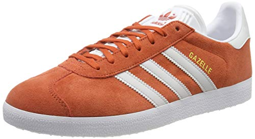 adidas Gazelle, Zapatillas de Gimnasia para Hombre, Naranja (Raw Amber/Grey One F17/Ftwr White Raw Amber/Grey One F17/Ftwr White), 38 2/3 EU