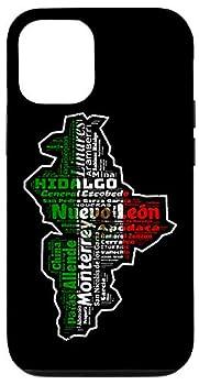 iPhone 12/12 Pro Nuevo Leon Mexico Mapa Bandera Mexicana Estado Case