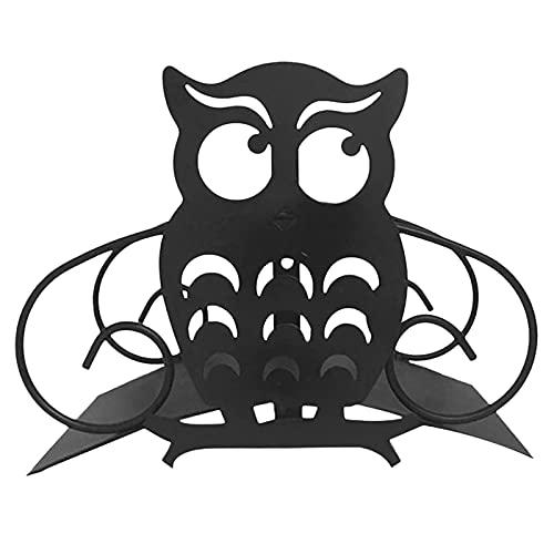 fdsad Soporte Manguera Metal Montado La Pared Colgador Manguera Jardín Gancho Organizador Manguera Riego Búho Divertido Toque Almacenamiento Decoración Grifo De Jardín con Grifo para Exterior