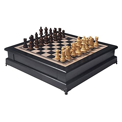 XMDDDA Hölzerne handgefertigte Schachbrett Schachfiguren einzigartiger Schach Set Professioneller Wettbewerb Schach Rechteck Schachbrett dekorative Bucht Fenstertabelle