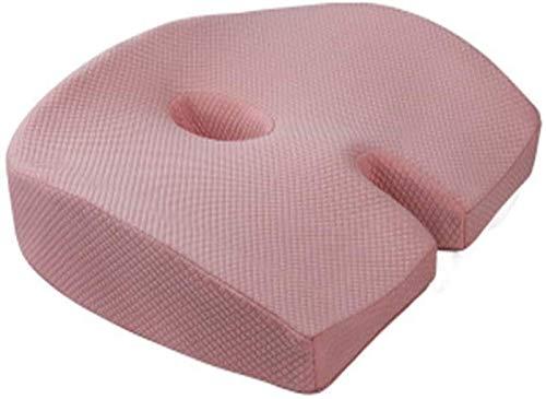 Rendimiento para aliviar el asiento ortopédico Cojín Coccix - almohada de asiento de espuma de memoria ortopédica premium, corrección de postura, cola de tailbone, ciática y alivio del dolor de espald