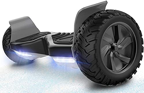 RCB Hoverboards Scooter Eléctrico de Auto-Equilibrio - Estándar de la UE - Off Road Patinete Eléctrico Todo Terreno Hummer de 8.5 Pulgadas con Bluetooth LED Motor Potente 2 * 350W