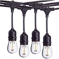 Sterno Home 24ft LED Vintage Edison Outdoor String Lights
