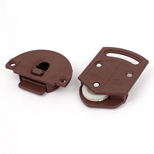 Aexit Dunkelbraun Kunststoff Baumarkt 3,6mm Mount Loch Kleiderschrank Schiebetür Baubedarf Roller Teller