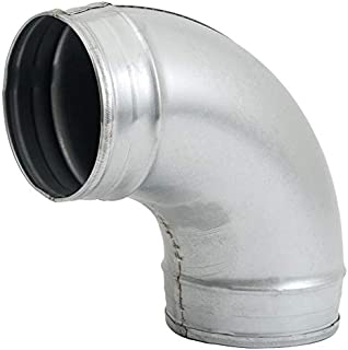 Duct Connector -Elbow- Dryer Vent Pipe Elbow Metal Tube for HVAC (5'' Inch, 90 Degree)
