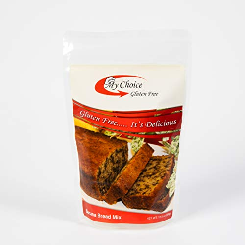 My Choice Gluten Free: Banana Bread Mix - Healthy Low Calorie GF Quick Bread and Muffin Mix with Rice Flour - 110 Calories/23g Carbs per serving - Celiac Safe Mix for Banana Bread (12.5 Ounces)