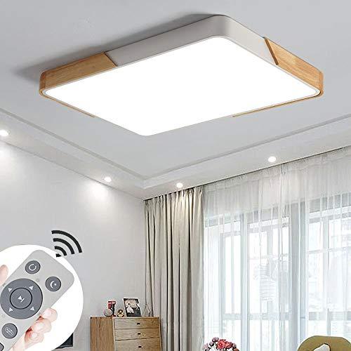 72W Plafoniera a LED Soggiorno Dimmerabile Soffitto Lamp Moderno Quadrato per soggiorno Sala pranzo Camera da letto Bagno Cucina Balcone Corridoio [Classe di efficienza energetica A++]