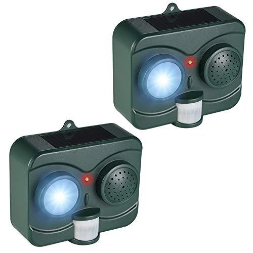 CHUTD ultrasone dierbescherming diercontrole solar-LED-knipperlicht buitenshuis PIR-bewegingssensor geluid voor herten, vogels, konijnen, knaagdieren, eekhoorns, katten, vleermuis, slangen,