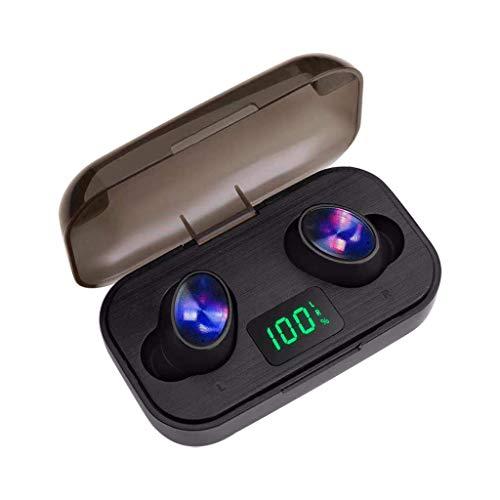 Marxways Twins 2020 - Auriculares inalámbricos Bluetooth 5, deportivos, estéreo, in-ear TWS estéreo, mini auriculares con micrófono extra Bass IPX5, resistentes al agua