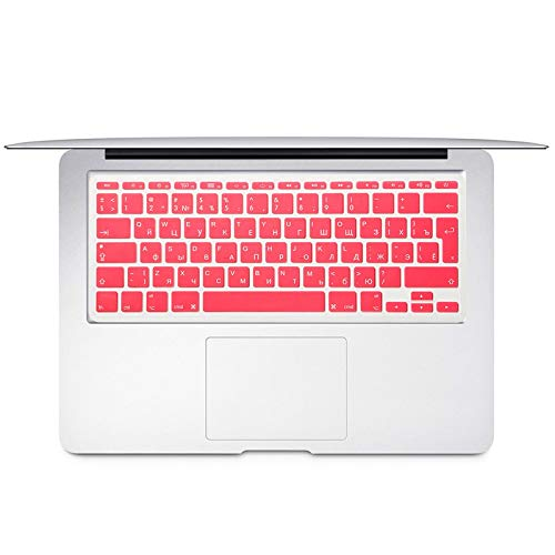 For Mac Book Air 11 inch Russian Colorful keyboard film EU Silicone Keyboard Protector Cover For air11.6 A1465 A1370 RU-Pink