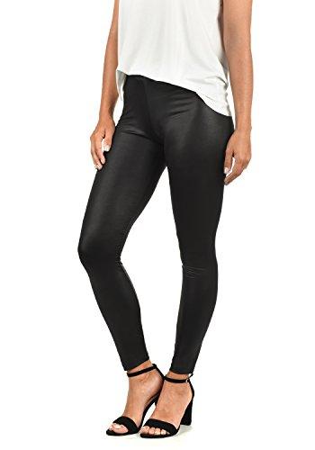 VERO MODA Paris Damen Leggings Hose Kunstleder Mit Stretchanteil Skinny Fit, Größe:L, Farbe:Black