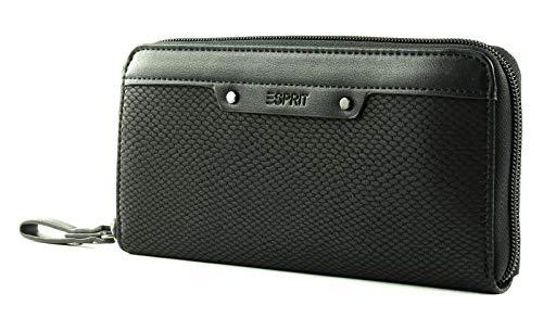 Esprit Damen Geldbörse Portemonnaies Tasha Zip Schwarz 119EA1V001-001