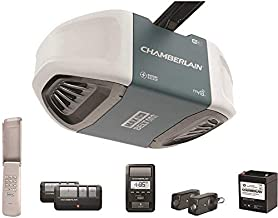 Chamberlain B970T Smart Garage Door Opener with Battery Backup - myQ Smartphone Controlled - Ultra Quiet, Strong Belt Drive and MAX Lifting Power, 1.25 HP, Wireless Keypad Included, Blue
