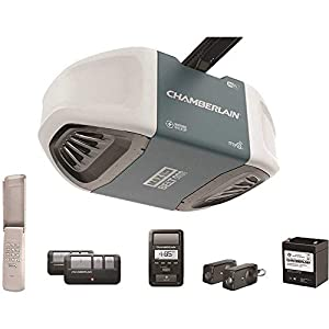 Chamberlain B970 Smartphone-Controlled Ultra-Quiet and Strong Belt Drive Garage Door Opener with Battery Backup and Max… 1