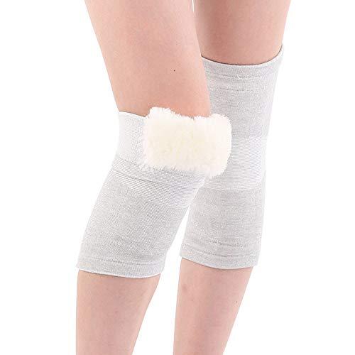 Winter koude en warme leggings, dikke wol knie beweging, zachte, ademende vocht lekken comfortabele pasvorm Unisex, 2 Stks