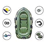 Schlauchboot-Set, PVC-Kajak-Schlauchboot Mit Paddel-Luftpumpe, Aufblasbares PVC-Drifting-Fischerboot, Mit Paddel Und Luftpumpe - 2-3 Personen - 10 Fuß