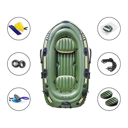 Kathariiy Schlauchboot-Set für 2-3 Personen, Kajak-Fischerboot, Drift-Tauchboot mit Paddel und Fußpumpe und Seil in die Luft jagen, zum Angeln und für andere Unterhaltung