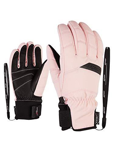 Ziener Damen KOMI AS(R) AW lady glove Ski-handschuhe/Wintersport | Wasserdicht, Atmungsaktiv, rose blush canvas, 7 (S)