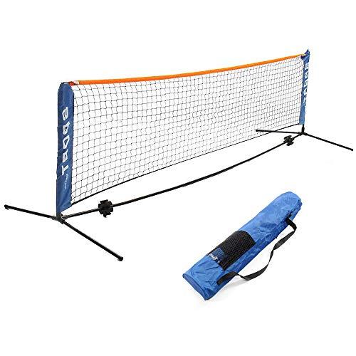 BENPAO Tragbares Badminton-Netz-Set - Netz für Tennis, Fußball, Volleyball für Kinder - Leichtes Aufstellen des Sportnetzes mit Stangen - für Innen- oder Außenplätze, Strand