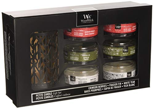 Woodwick Woodland Scented Candle Gift Set, pack of 6