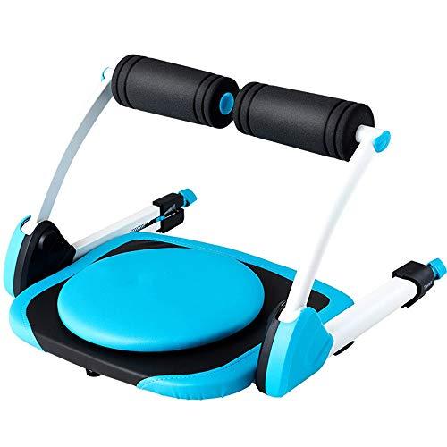 PQXOER Bauchtrainer Einstellbare Widerstand Ab Trainer Core-Trimmer mit Rebound-System Muskeln Aufbautraining Sit Up Ausrüstung Trainingsbank Bauchmuskeltrainer (Color : Blue, Size : 557x553x350mm)