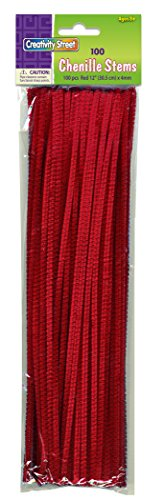 Red Chenille Stems/Pipe Cleaners
