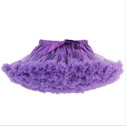 Jysport Tutu / Pettirock für Partykleid / Tanzkleid, ideal fürs Ballett, flauschiger Prinzessinnenrock, violett, M