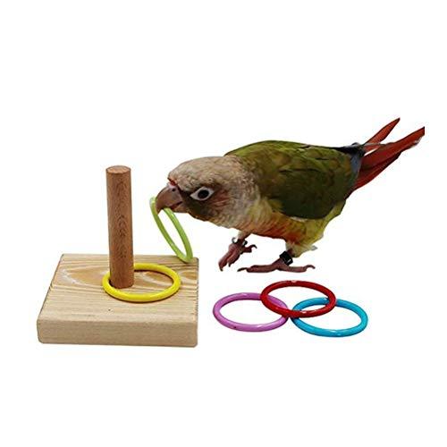 Kylewo Juguetes de Mesa con Truco de pájaros, Juegos de Juguetes de Anillo de Color de apilamiento de Baloncesto de Entrenamiento, Juguetes de Entrenamiento de Loro para Loro pequeño