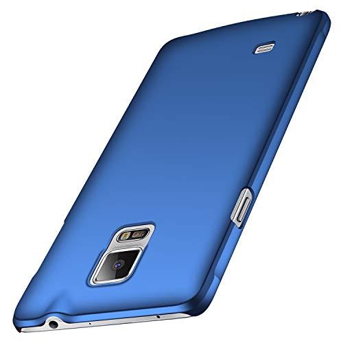 anccer Samsung Galaxy Note 4 Hülle, [Serie Matte] Elastische Schockabsorption & Ultra Thin Design für Samsung Note 4 (Glattes Blau)