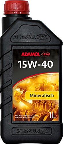 ADAMOL 1896 01180140 Minéral isches motorenöl 15 W-40, 1 l