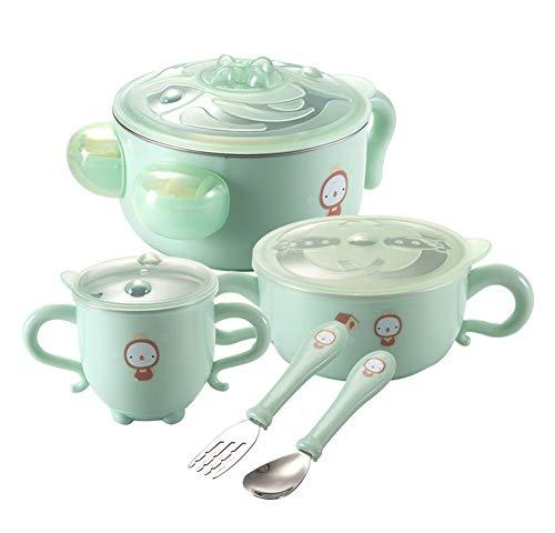 Baby tableware Vaisselle pour Enfants Tasses à Injection d'eau pour bébé Ensemble à Couverts Bol à Nourriture Anti-Goutte