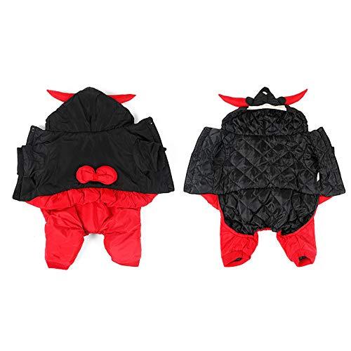 COSSPET Disfraz de Halloween para Perro, Sombrero de Cuerno de Toro para Perros pequeños y medianos, Accesorios de Halloween para Mascotas