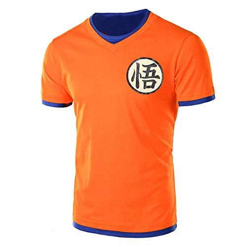 hengGuKeJiYo Dragon Ball T Shirt Uomo Estate Top Dragon Ball Z Super Son Goku Cosplay T-Shirt Divertente Anime Dragonball Maglietta Top